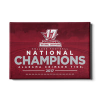 Alabama Crimson Tide - 2017 National Champions - College Football Canvas Wall Decor