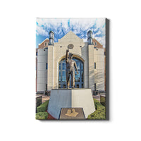 Florida State Seminoles Akers Plaza - Bobby Bowden Statue Canvas