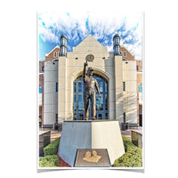 Florida State Seminoles Akers Plaza - Bobby Bowden Statue Photo Print
