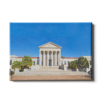 LSU Tigers Paul M. Hebert Law Center Sketch canvas