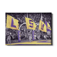 LSU Tigers LSUå¨ Touchdown Flags canvas