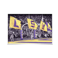 LSU Tigers LSUå¨ Touchdown Flags photo print