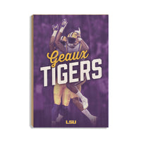 LSU Tigers Geaux Tigerå¨ High Five wood art