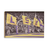 LSU Tigers LSUå¨ Touchdown Flags wood art