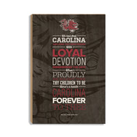 South Carolina Gamecocks We Hail Thee Carolina䋢 Wood Art