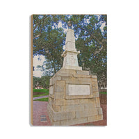 South Carolina Gamecocks Maxcy Monument Sketch Wood Art