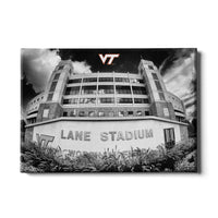 Virginia Tech Hokies Lane Stadium Black & White Canvas