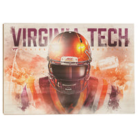 Virginia Tech Hokies Hokie䋢 Double Wood Art