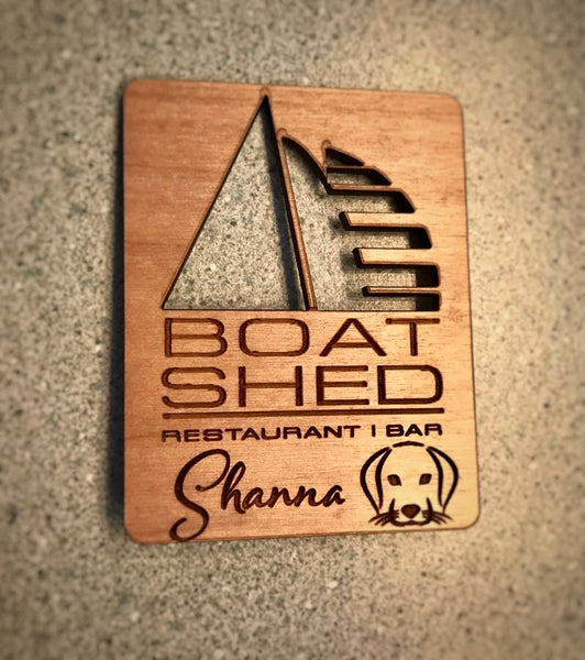 Boat Shed Manette - Personalized Name Badge (Outline)