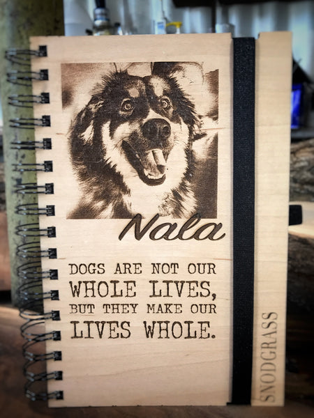 Doggie Love Handcrafted Wood Journals