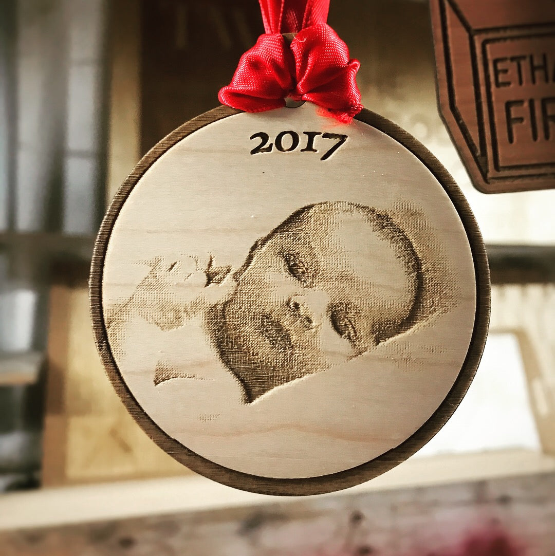 Personalized Laser Cut Christmas Ornament - Photo Ornaments