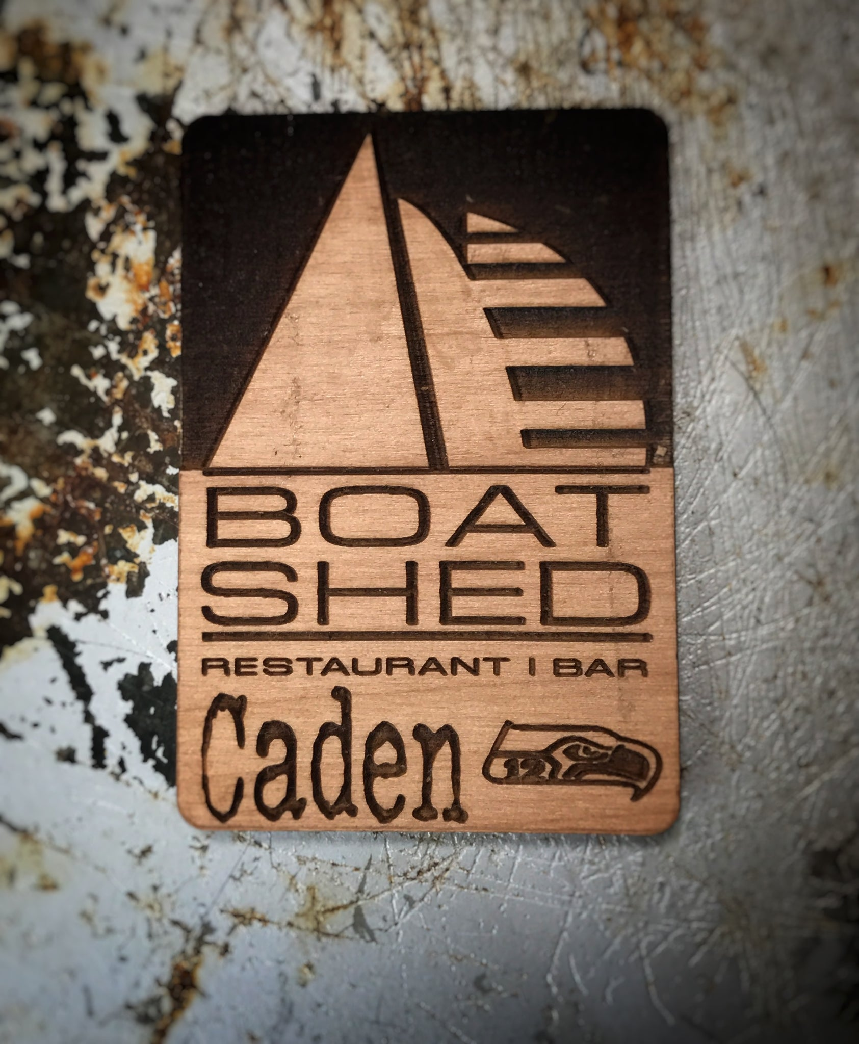 Boat Shed Manette - Personalized Name Badge (Intaglio)