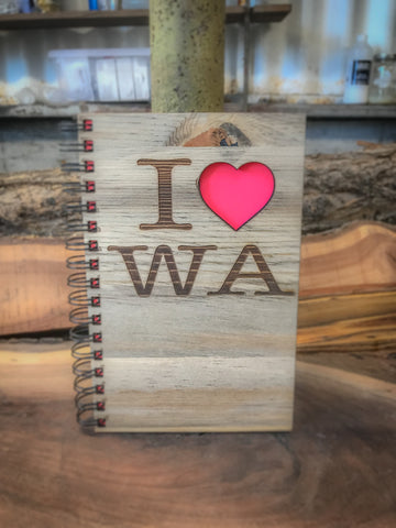 I love WA Handcrafted Wood Journal