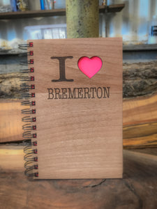 I Love Bremerton Handcrafted Wood Journal