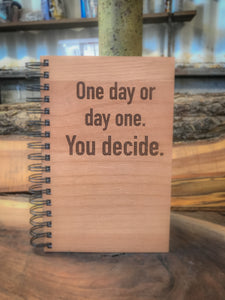 Day One or One Day Handcrafted Wood Journal