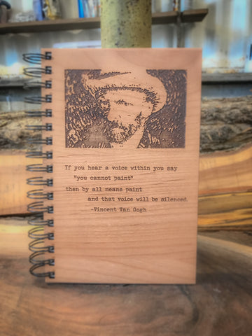 Then by all Means Paint Handcrafted Wood Journal