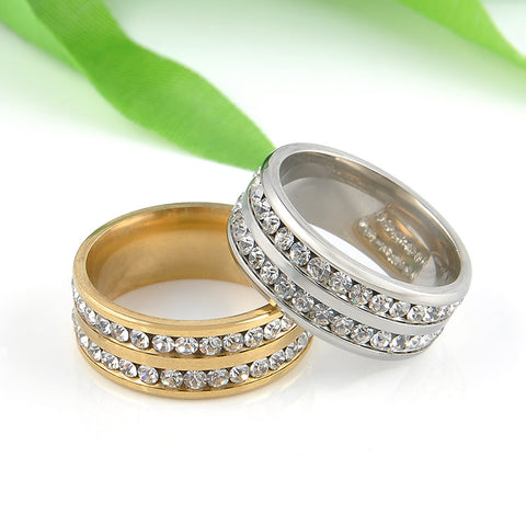 1 PC Gold Silver Crystal Rings - East Gold