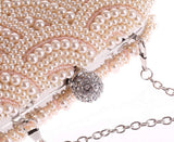 Luxury Pearl Clutch bag - East Gold