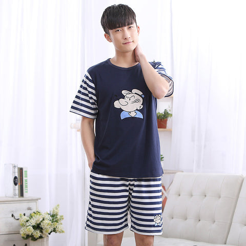 Cartoon Printing Stripe  Sleepwear - East Gold