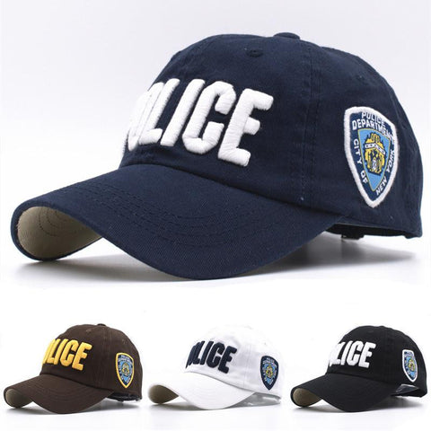 Police Baseball Caps - East Gold