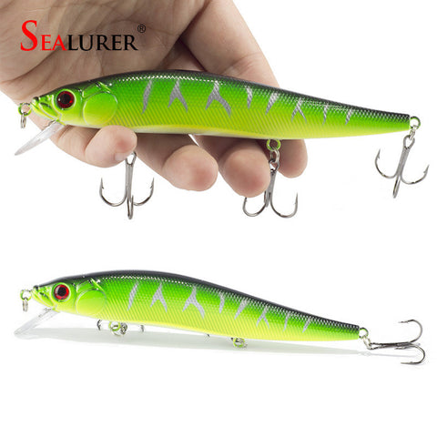 1PCS/lot 14 cm 23.7 g Fishing Lure Minnow Hard Bait with 3 Fishing Hooks Fishing Tackle Lure 3D Eyes - East Gold