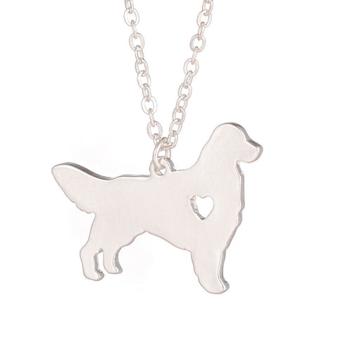 1pc Golden Retriever Necklace - East Gold