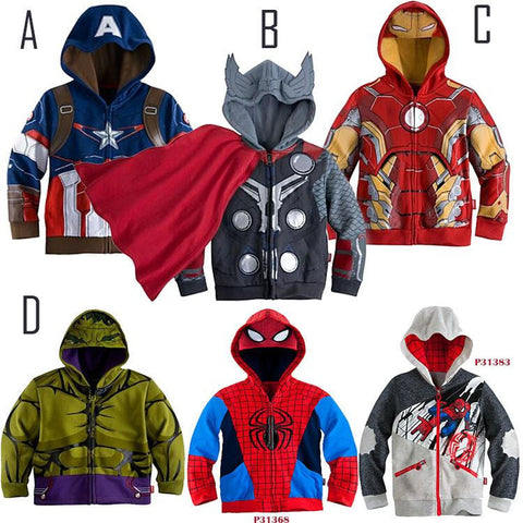 Super Hero Captain America Iron Man Spider MAN Hulk Super Hero Jackets - East Gold