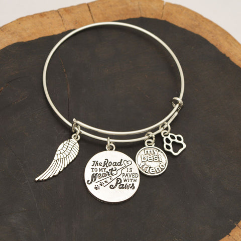 """The load to my heart paws"" Pet Memorial Necklace Lover Dog My Best Friend - East Gold"
