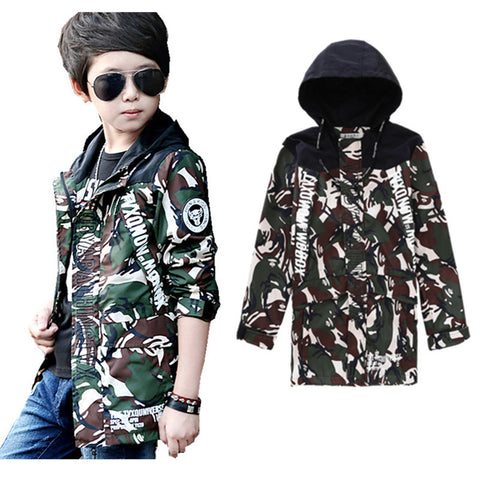 Camouflage Long Coat - East Gold