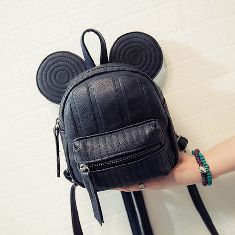 Leather Cartoon  Backpack - East Gold