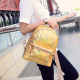 Hologram Laser Backpack - East Gold