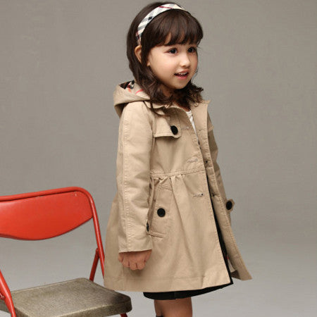 Designer Long Single Breasted Trench Coat - East Gold