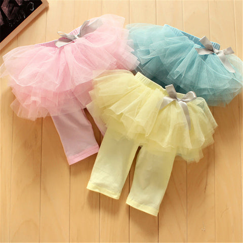 Culottes Leggings Gauze Skirts Bowknot Tutu Skirts - East Gold