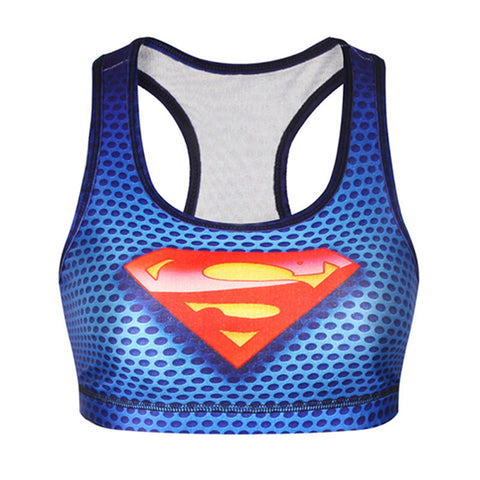 2017 Superman Hero Summer Vest Women Punk Sexy Kawaii Harajuku Tank Top Slim Hipster Fitness Cool Sleeveless Crop Tops F1555 - East Gold