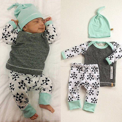 3 PCS Newborn Baby Suits - East Gold