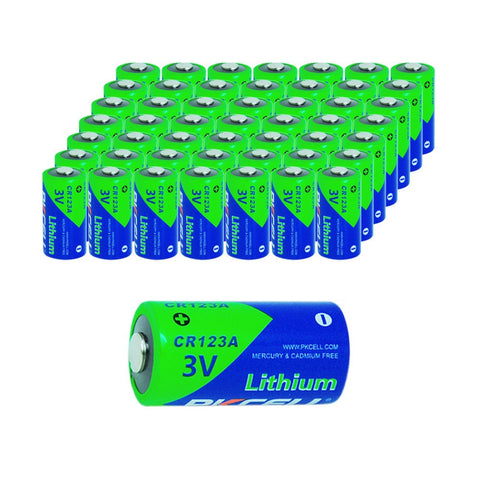 50 x PKCELL Bateria 3V CR123A Batteries CR123 123A 16340 CR17345 Lithium Battery Bateria Batery For Camera Flashlights Torch - East Gold