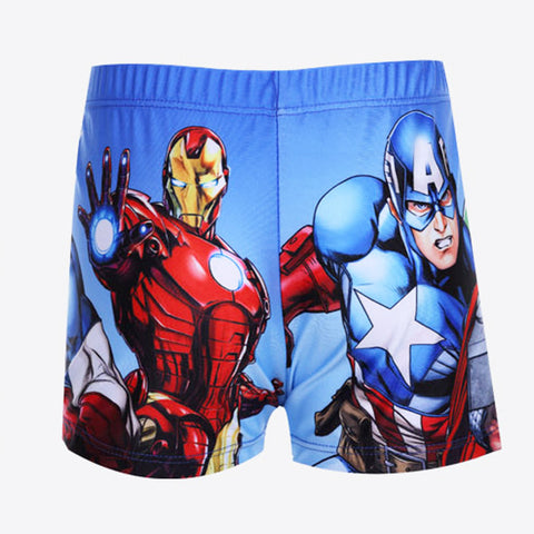 Actionclub Trunks American Captain Hulk Iron Man Cartoon Patterns Boys Swimming Trunks Baby Boys Swimwear SA113 - East Gold