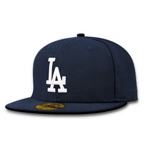 Adjustable LA Letters Snapback Cap - East Gold