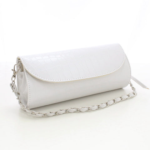 Alligator Leather Clutch with Chain - East Gold
