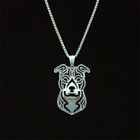 American Staffordshire Terrier Dog Lover Amstaff  Necklace - East Gold