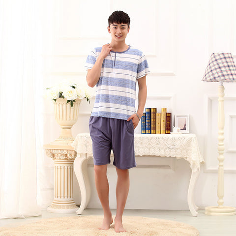Cotton Short Sleeve Pajamas - East Gold