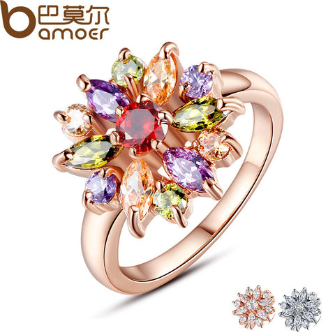 3 Colors  Rose Gold Plated Finger Ring - East Gold