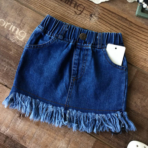 Denim Tassel Skirts - East Gold
