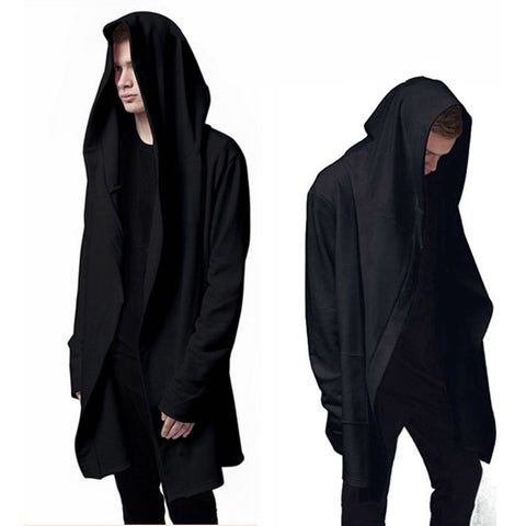 Black Gown Mantle Hoodies and Sweatshirts Long Sleeves - East Gold