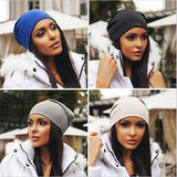 Blended Beanie Slouch Warm Hat - East Gold