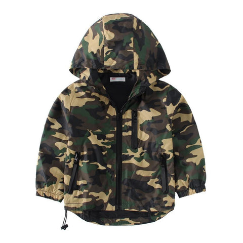Sport Camo Outerwears Outdoor Windbreak Hoodies - East Gold