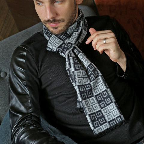 Classic Designer Winter Scarf - East Gold