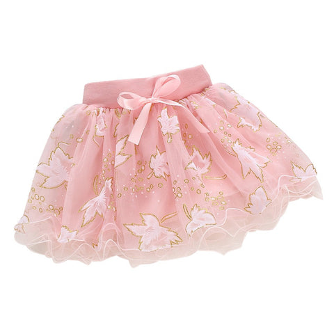 Floral Bowknot Princess Skirt 1-4Yrs - East Gold