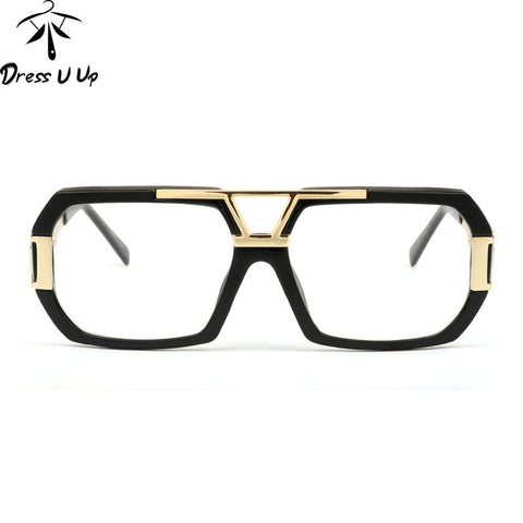 DRESSUUP 2016 New Fashion Square Sunglasses Women Brand Designer Vintage Big Frame Sun Glasses For Men Oculos De Sol Feminino - East Gold