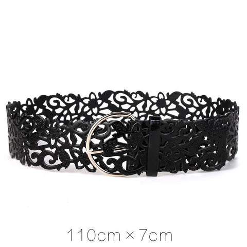 Metal Buckle Thin Casual Belt Faux Leather   east gold.myshopify.com